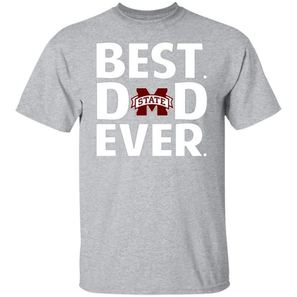 Mississippi State Bulldogs Best Dad Ever T-Shirts, Long Sleeve, Hoodies 6
